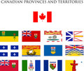 Canadian provinces flags Royalty Free Stock Photos