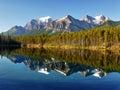 Canadian Rockies, Herbert Lake, Canada Royalty Free Stock Photo