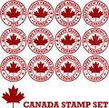 Canadian rubber stamps