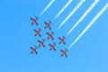 Canadian snowbirds show bagotville canada june the bagotville airshow is a days airshow where the bagotville airport opens to the Royalty Free Stock Photos
