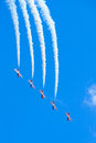 Canadian snowbirds show bagotville canada june the bagotville airshow is a days airshow where the bagotville airport opens to the Royalty Free Stock Images