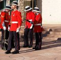 Canadian Soldiers In Historic Uniforms For Remembrance Day Royalty Free Stock Photo
