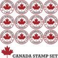 Canadian stamp set