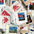 Canadian stamps Stock Photos
