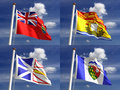 Canadian State Flags Stock Images