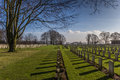 Canadian war cemetary groesbeek netherlands Stock Photos