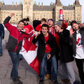 Canadians celebrate hockey gold Royalty Free Stock Images