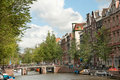 Canal in Amsterdam Royalty Free Stock Photo