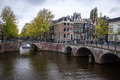 Canal in amsterdam may on may has been called the venice of the north for its more than kilometers of canals Stock Photography