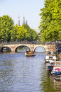 Canal in amsterdam the netherlands Royalty Free Stock Image