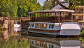Canal barge on historic C&O Canal waterway Royalty Free Stock Photos