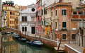 Canal beautiful old buildings venice italy Stock Photo