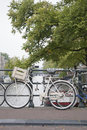 Canal with Bike, Amsterdam, Holland Royalty Free Stock Photo