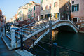 Canal bridge in Venice Royalty Free Stock Photos
