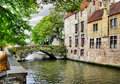 Canal in Bruges Royalty Free Stock Photo