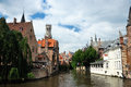 Canal of Bruges, Belgium Royalty Free Stock Images