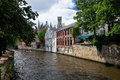 Canal of Bruges, Belgium Royalty Free Stock Photos