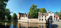 Canal of Bruges, Belgium Royalty Free Stock Image