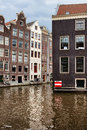 Canal buildings in amsterdam houses capital city of the netherlands Stock Images