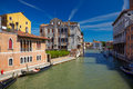 Canal cannaregio in venice italy view on from guglie bridge ponte delle guglie Stock Photos