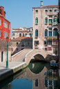 Canal in center of Venice Royalty Free Stock Photography