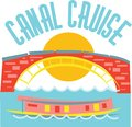 Canal cruise use this design saftey purpose Royalty Free Stock Photos