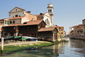 Canal di San Trovaso with Gondola shipyard Royalty Free Stock Photo