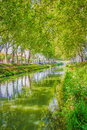 Canal du midi south of france landscape the Royalty Free Stock Image