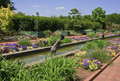 Canal Gardens at Daniel Stowe Stock Images