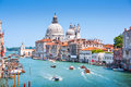 Canal Grande with Basilica di Santa Maria della Salute in Venice, Italy Royalty Free Stock Photo