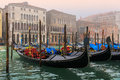 Canal grande in Venice, gondolas Stock Photos