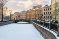 Canal Griboedov in Saint-Petersburg winter morning Royalty Free Stock Photo