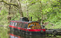 Canal House Boat On Waterway I...