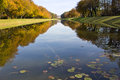 Canal at lake chiemsee Royalty Free Stock Images