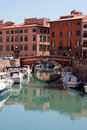 A canal of Livorno Royalty Free Stock Photo