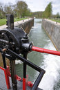 Canal lock gate Royalty Free Stock Image