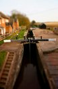 Canal lock gate c tilt and shift photograph of a on a Stock Image