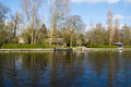 Canal olde rijn netherlands beautiful leiden Royalty Free Stock Photos