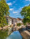 Canal in petite france area strasbourg france Stock Photos