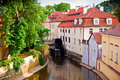 A Canal In Prague Stock Photo