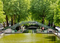 Canal Saint-Martin, Paris Royalty Free Stock Photos