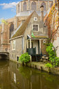Canal street old town delft netherlands Royalty Free Stock Photos