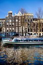 Canal tour Amsterdam Royalty Free Stock Images