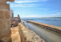 The canal of the tuna fishery in italy view Royalty Free Stock Image