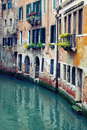 Canal in venice beautiful venetian italy Stock Photo