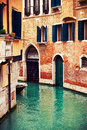 Canal in venice italy beautifu famousl canals Royalty Free Stock Images