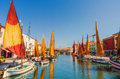 Canal view shot in cesenatico italy Royalty Free Stock Photos