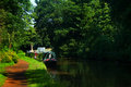 Canal view of the trent and mersey Royalty Free Stock Images