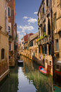 Canal view in Venice Royalty Free Stock Photo