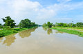 Canal waterway watercourse in thailand Royalty Free Stock Image